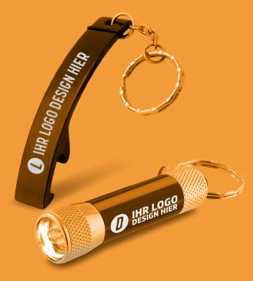 Schlüsselanhänger mit Taschenlampe Banner