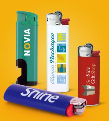 Reklamní zapalovače s potiskem