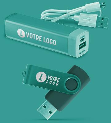 Multiprises USB personnalisés avec logo imprimé