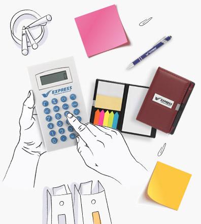 Calcolatrici pubblicitarie personalizzate con logo